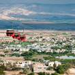Cable car over Jericho. - Stock Photo