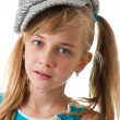 Stock Photo: Portrait of girl in cap.