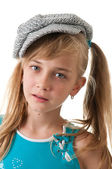 Portrait of a girl in a cap. — Stock Photo