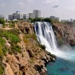 Turkey, Antalya, seashore. Waterfall. — Stock Photo