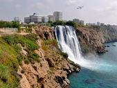 Turkey, Antalya, seashore. Waterfall. — Stock Photo