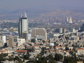 Israel, Haifa. Lower town and industrial area. — Stock Photo