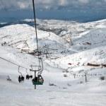 Ski center on Mount Hermon in Israel. — Stock Photo