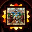 Palestine, stained glass in Church of the Nativity in Bethlehem. — Stock Photo #46242925