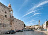Square in front of the Temple of the Nativity in Bethlehem. — Stockfoto