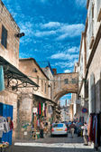 Srael, Jerusalem, traffic on the Via Dolorosa. — 图库照片