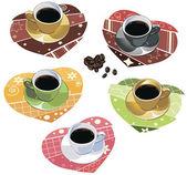 Conjunto de xícaras de café — Vetorial Stock