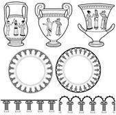 Motivi di greci antichi — Vettoriale Stock