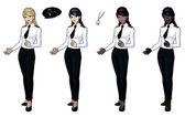 Female airplane pilots — Stock Vector