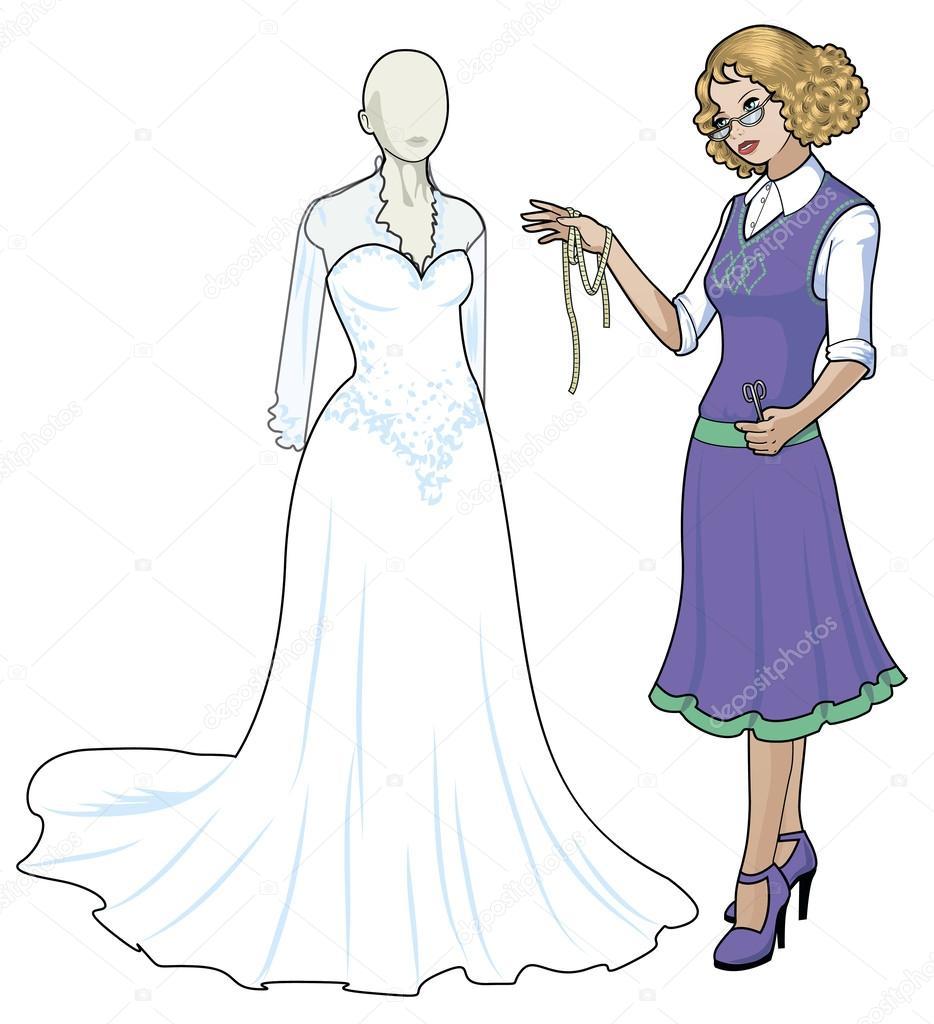 Vestidos de boda de dibujos animados