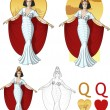 Постер, плакат: Queen of hearts actress Mafia card set
