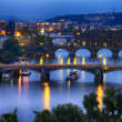 Prague at night - Stock Photo