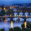 Prague at night — Stockfoto