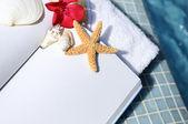 Libro abierto y el espíritu de spa — Foto de Stock