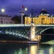 Lyon by night — Stock Photo