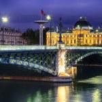 Lyon by night — Stock Photo