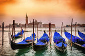 Gondolas in Venezia — Stockfoto