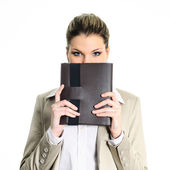 Buisness diary woman — Stock Photo