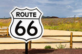 Historic Route 66 Road Sign — Stock Photo
