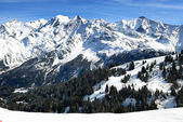 The Mont blanc, alpine mountains — Stock Photo