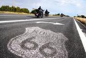 Tarihsel rota 66 yol levhası — Stok fotoğraf