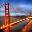san francisco, el puente Golden gate — Foto de Stock