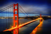 мост золотые ворота, сан-франциско — Стоковое фото