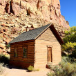 Stock Photo: Frontier schoolhouse, Capitol Reef, Southern UT