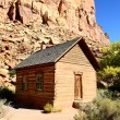 Frontier schoolhouse, Capitol Reef, Southern UT — Stock Photo