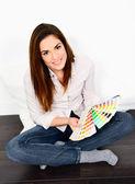 Chosing paint colours — Stock Photo