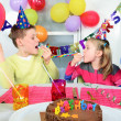 Stock Photo: Big funny birthday party