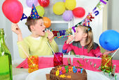 Big funny birthday party — Stock Photo