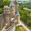 Fortress Carcassonne (France, Languedoc) - Foto Stock