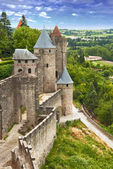 Fortress Carcassonne (France, Languedoc) — Stock Photo