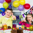 Big funny birthday party — Stock Photo #22266067