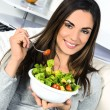Woman eating salad. — Stock Photo #24204083