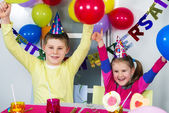 Big funny birthday party — Stock Photo
