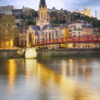 Lyon city by night — Stock Photo