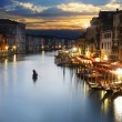 Grand Canal at night, Venice — ストック写真