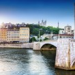 Lyon saône france — Stock Photo