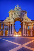 Arch of augusta in lisbon — Stock Photo