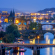 Prague at night — Foto Stock