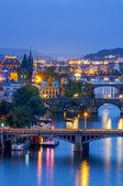 Prague at night — Stock Photo