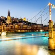 Lyon by nigt with lights — Stock Photo #25855995