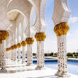White Mosque in Abu Dhabi — Foto de Stock