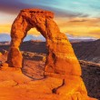 Stock Photo: Delicate Arch, Arches National Park, Utah