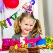 Big funny birthday party — Stok fotoğraf