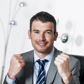 Winner manager — Stock Photo