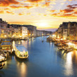 Grand Canal at night, Venice — Stock Photo #32574343
