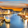 Grand Canal at night, Venice — Stock Photo #33775335